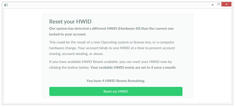 Reset your own HWID! - Announcements - CheatAutomation