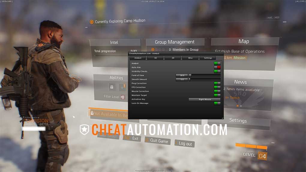 The Division Hack, Aimbot and ESP Cheat Download | CheatAutomation